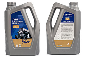 AISIN Fully Synthetic Motor Oil SN 5W 30 40 Product Datasheet