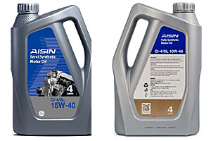 AISIN Fully Synthetic Motor Oil SN 15W 40 Product Datasheet