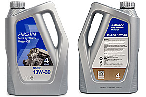AISIN Fully Synthetic Motor Oil SN 10W 30 40 Product Datasheet