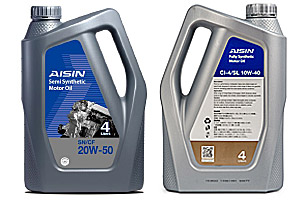 AISIN Fully Synthetic Motor Oil SN 20W 50 Product Datasheet